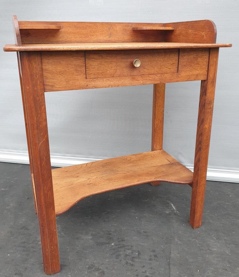 Table coiffeuse Art Déco en Chêne 2 plateaux - 120 euros