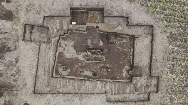 Vue aérienne du site - Crédit photo : EFE/Byron Ortiz/Mulalo Archaeological Project - Salatilin