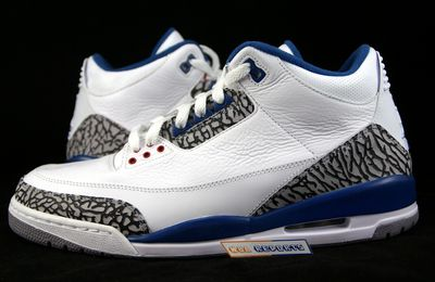 Nike Air Jordan III True Blue Rétro 2009