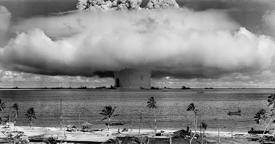 Un essai atomique américain à Bikini en 1946