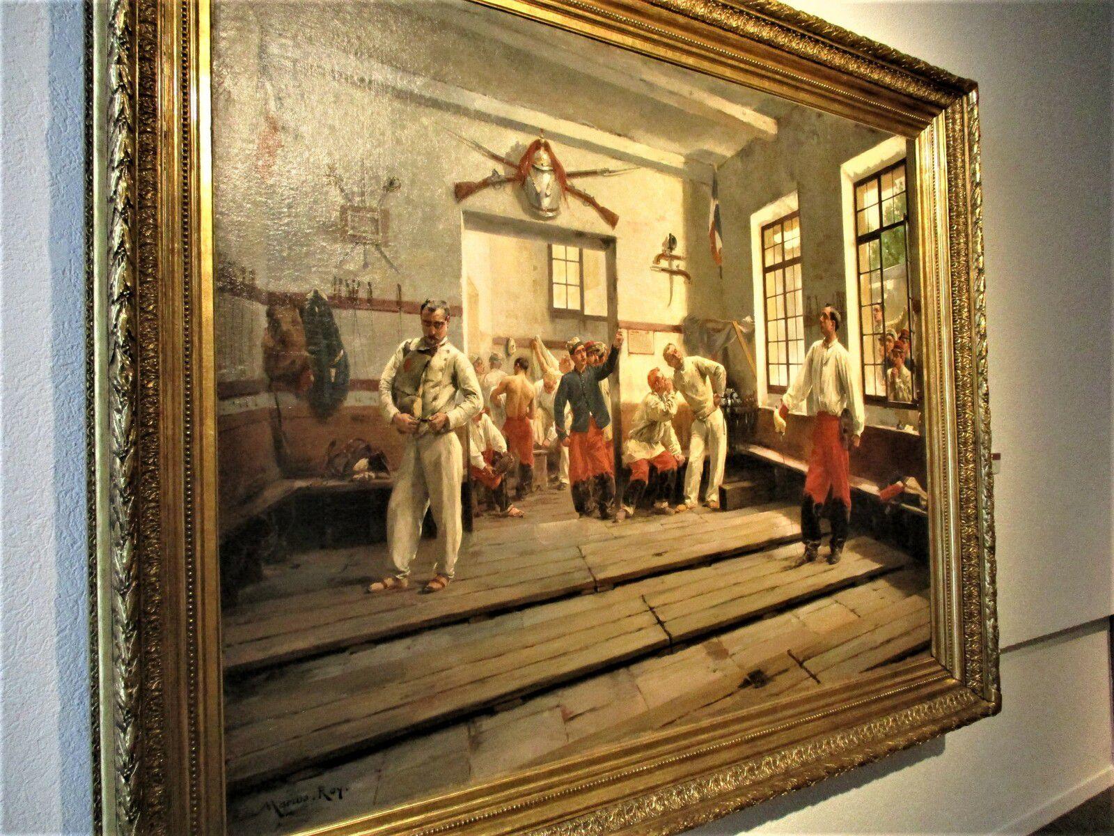 A la Salle d'Armes,  la Leçon de Veille - Marius Roy, 1889