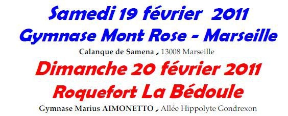 STAGE : Attention changement adresse le samedi 19 !!!