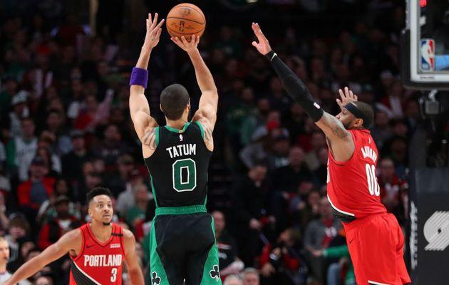 Jayson Tatum porte encore les Celtics à Portland en inscrivant 36 points dont un record personnel à trois-points