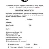 """Bulletin d'adhésion - Association """"le dauphin Corse"""""""
