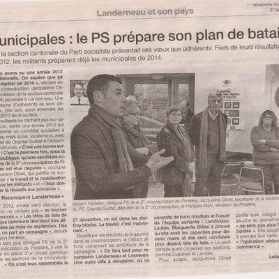 Voeux 2013 - echo de la presse locale - Ouest-France 27 janvier