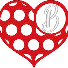 ABC cœur à pois: la lettre B
