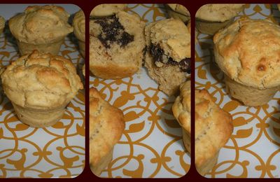 Muffins chocolat/beurre de cacahuète