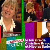 Les Dessous Du Culte : le fou rire de Christine Bravo et Nicolas Sarkozy #DessousCulte - SANSURE.FR