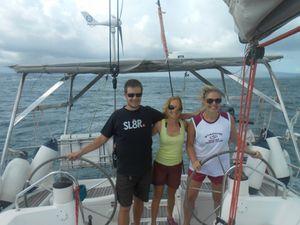 Laura et Fabien à bord !