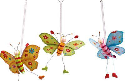 Jumper papillon, animal sauteur à suspendre