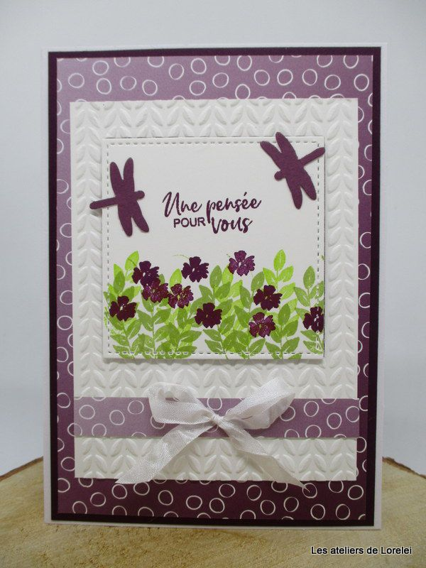 """Corner bouquet"" Chez Stampin Up"