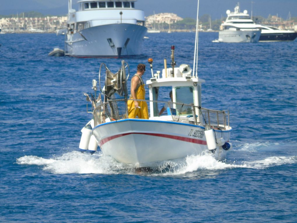 BELLE BRISE V , rentrant au port de Saint Tropez le 29 juillet 2017