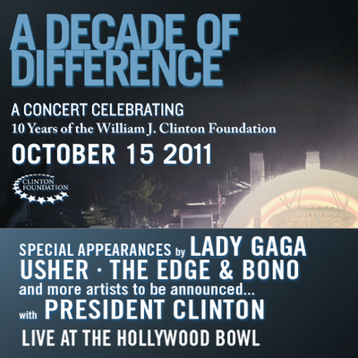 Clinton Foundation's A Decade Of Differences at The Hollywood Ball
