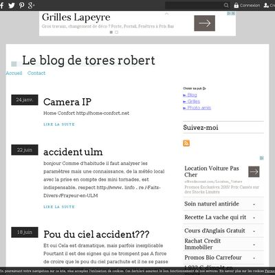 Le blog de tores robert