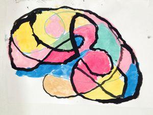 Premier essai de peinture à la gouache (avec les enfants de moyenne section)