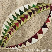 Terri Stegmiller Art Quilts: Flying Geese on a Curve