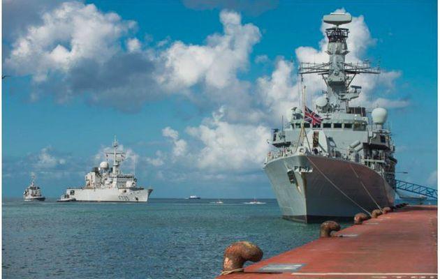 Narcotrafic - exercice naval franco-britannique aux Antilles
