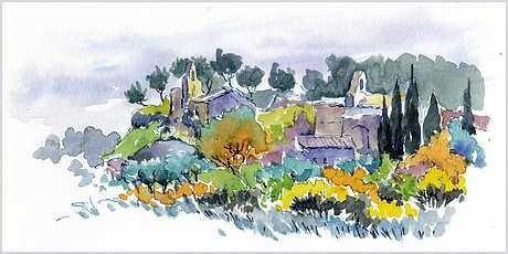 Album - stage aquarelle en Provence