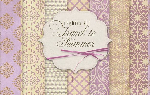 New Freebies Kit of Backgrounds - Travel to Summer