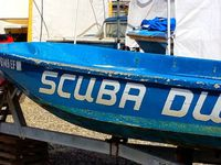 Californian 34 , Scuba Duba Boston Whaller ' s , Bertram 34 , Cal 40 . From Dana point , New port Beach , restored in Wilmington CA .