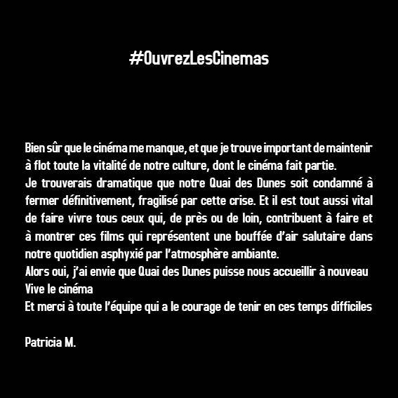 #OuvrezLesCinémas