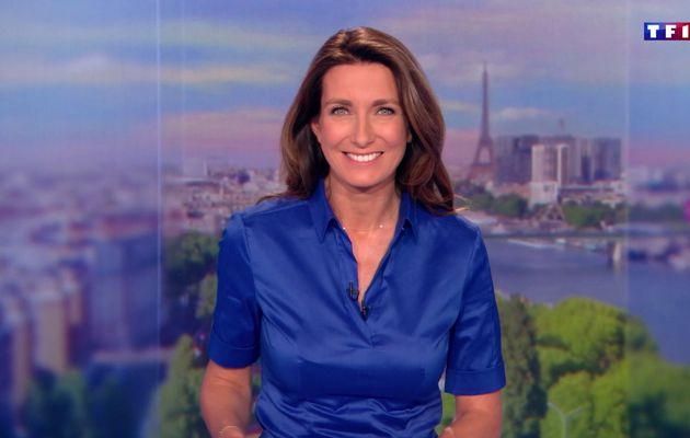 📸34 ANNE-CLAIRE COUDRAY @ACCoudray @TF1 @TF1LeJT pour LE 20H WEEK-END #vuesalatele