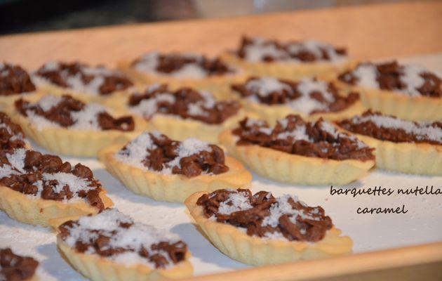Tartelettes nutella caramel noix de coco gateaux pour l'aid