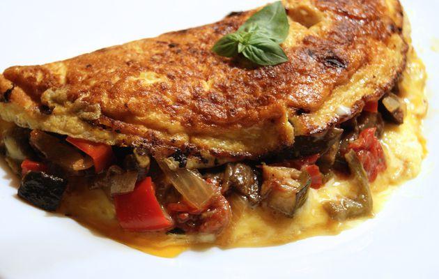 Omelette à la ratatouille