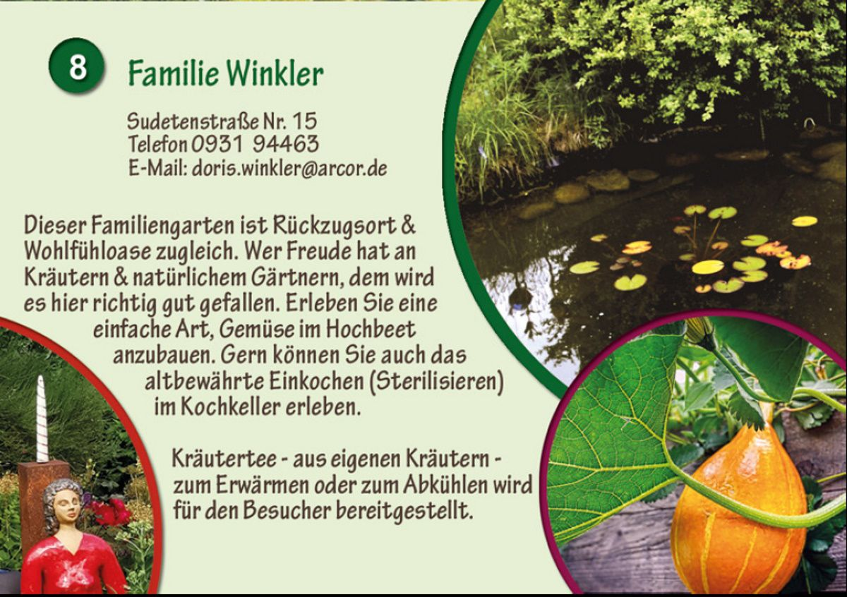 Verschönerungsverein Veitshöchheim veranstaltet zum 125jährigem Jubiläum am 31. Juli einen Tag der Offenen Gärten