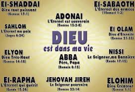 Les différents noms de Dieu