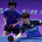 Joint Korean team win table tennis gold