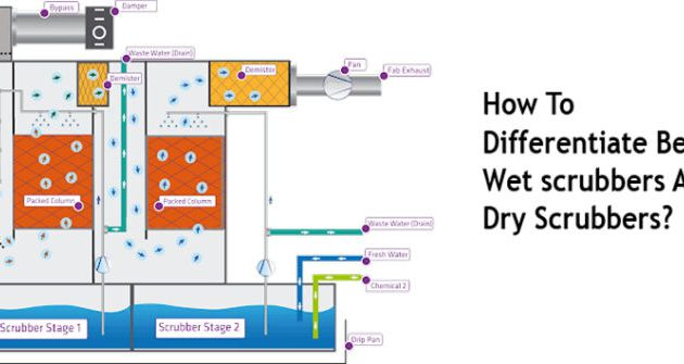 How to differentiate between wet scrubbers and dry scrubbers?
