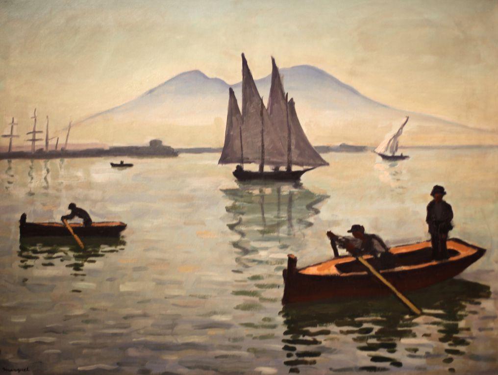 """""""Naples, le voilier"""", 1909 et """"le port de Naples"""", 1908 d'Albert Marquet © Photo Éric Simon"""