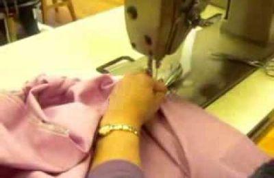 un drap housse couture et repassage