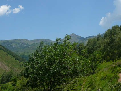 itinéraire de la randonnée à la Turrière et à Campoumarel.