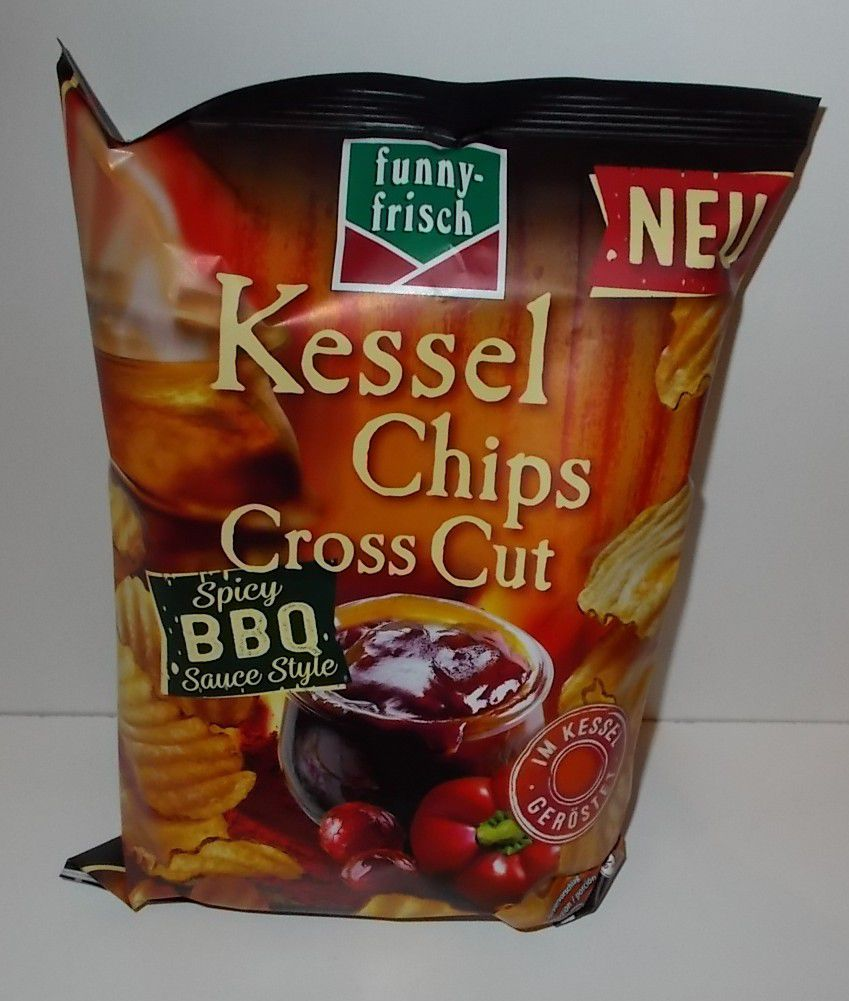 funny-frisch Kessel Chips Cross Cut Spicy BBQ Sauce