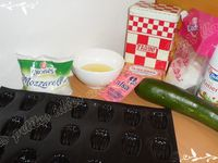 Mini-madeleines courgettes / mozzarella