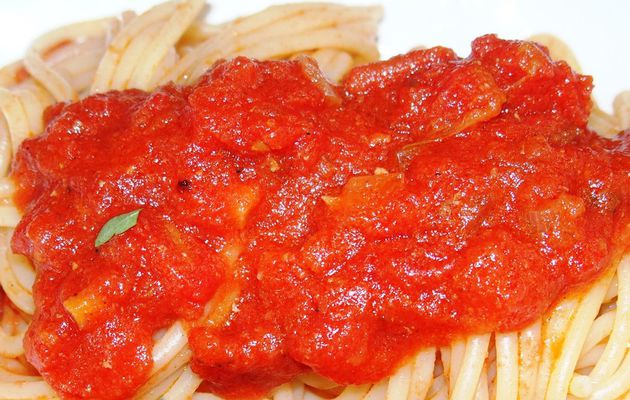 Sauce tomate pour spaghetti exigeants