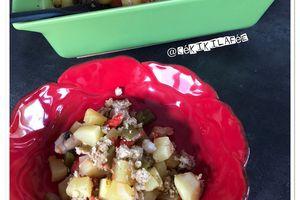 Crumble healthy aux légumes et flocons d'avoine