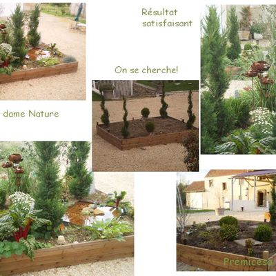 PLANTATION DANS UNE COUR DE CAILLOUX