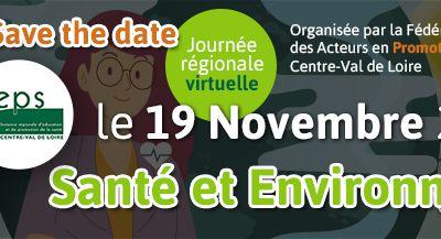 Journée régionale EN LIGNE : Santé & Environnement le 19 novembre 2020