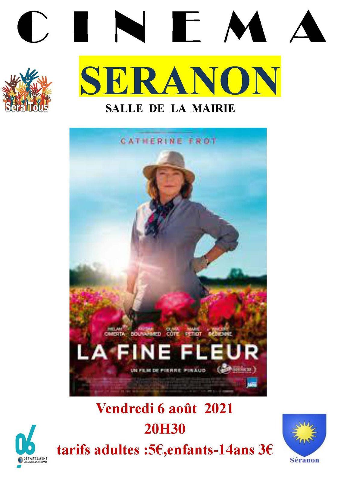 Affiche Cinéma de pays Séranon le 6 août  la fine fleur