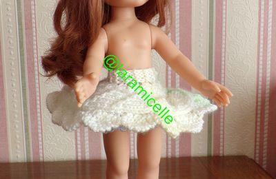 tuto gratuit poupée  :  jupe corolle automnale