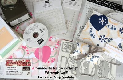 NOUVELLE VIDEO,CARTE ET BOITE,TEXTURES AND FRAMES,STAMPIN'UP!