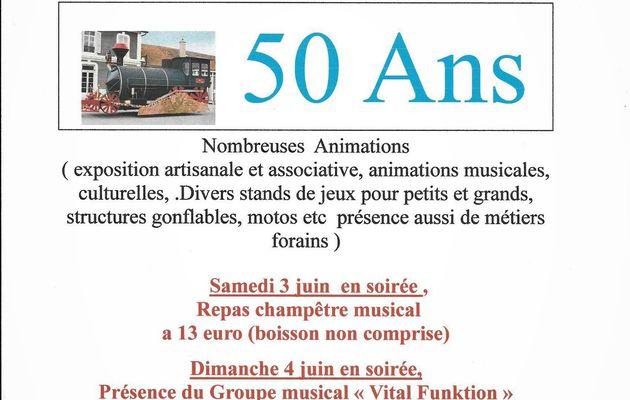 comité des Amis du quartier de la gare Montchanin-71 CINQUANTENAIRE 2017