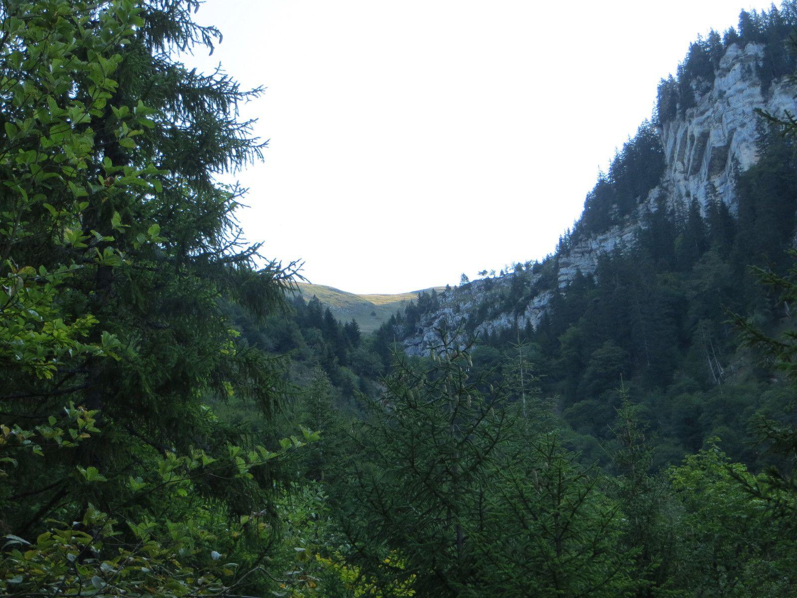Col de la Saulce 1481m vu du sentier de montée