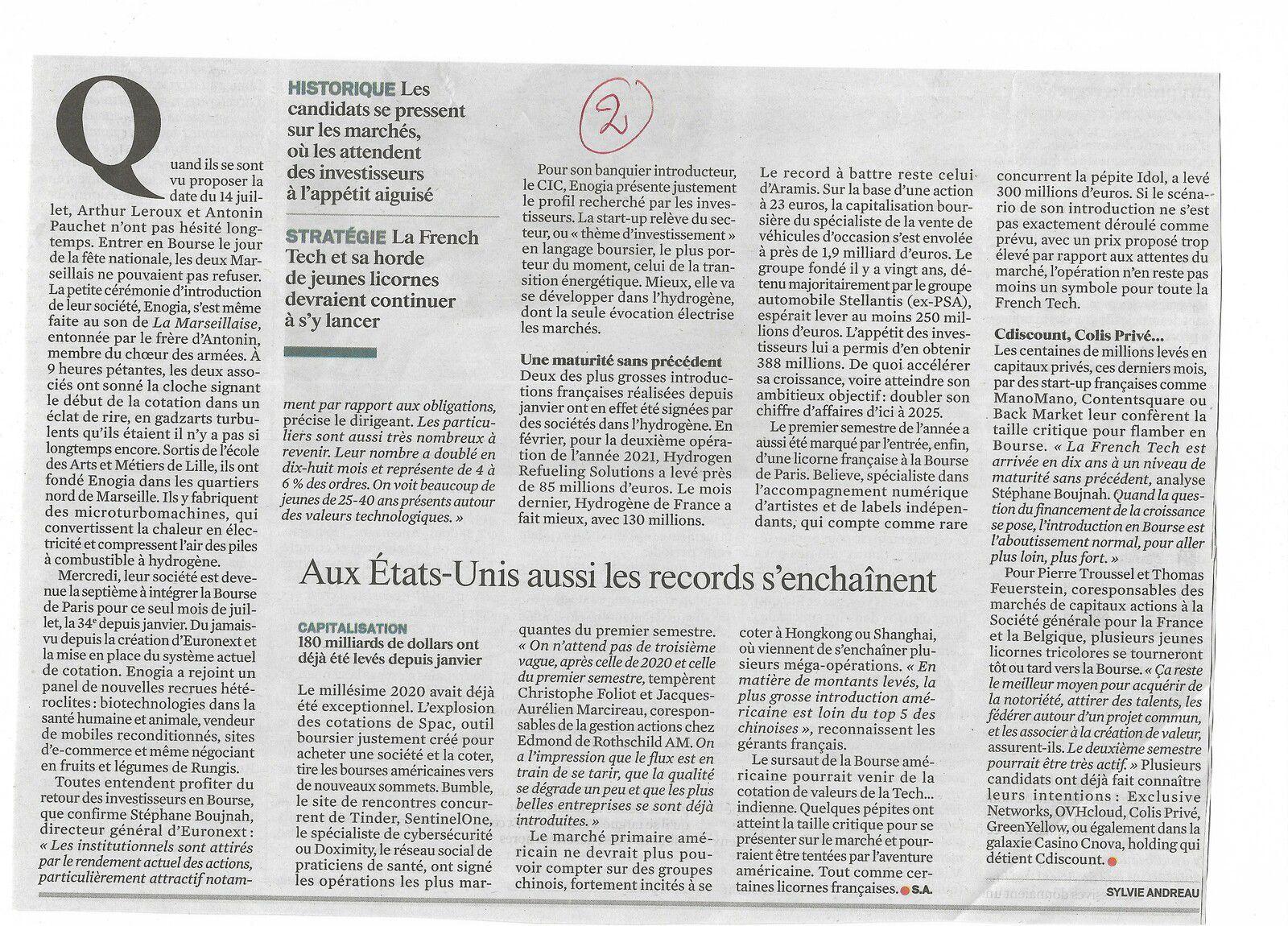 Vu et lu dans Le Journal du Dimanche du 18/07/21