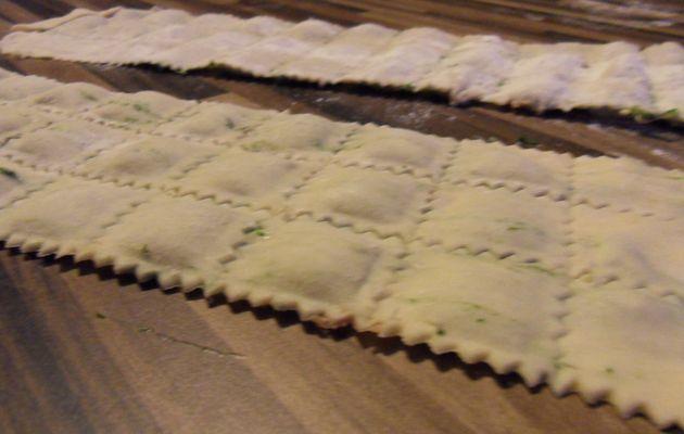 Raviolis sans oeufs aux épinards et au fromage de brebis