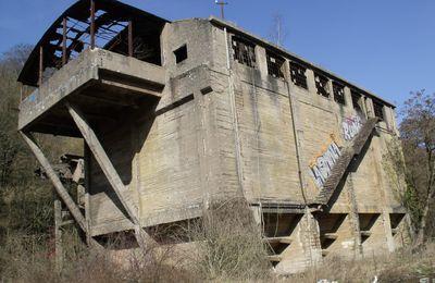 Les vestiges de la mine de Rochonvillers à Algrange entre 2012 et en 2018