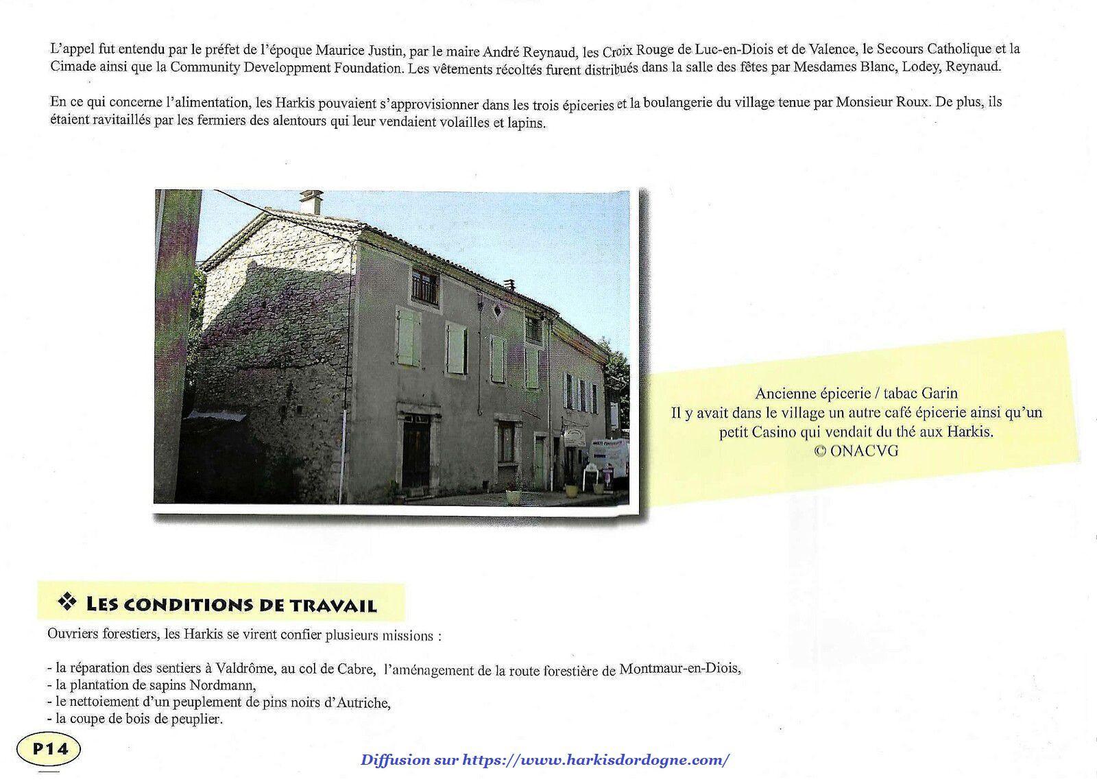 ONAVG de la Drôme (26) : Le hameau de forestage de Beaurières 1962-1975 de 8 à 14 sur 28